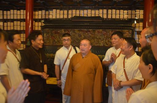 少林寺方丈释永信大和尚接见首届少林寺三疗七修体验班全体学员